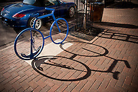 Bike racks in downtown Marquette Michigan.