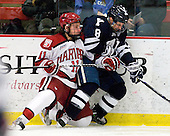Kyle Criscuolo (Harvard - 11), Josh Balch (Yale - 8) - The Yale University Bulldogs defeated the Harvard University Crimson 5-1 on Saturday, November 3, 2012, at Bright Hockey Center in Boston, Massachusetts.