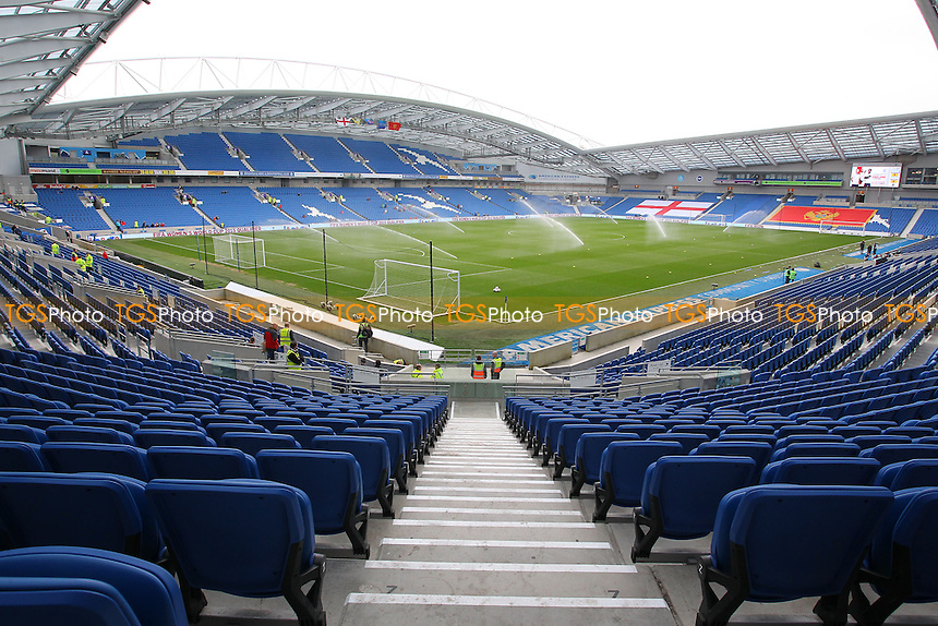 General view of the stadium ahead of kick-off - England Women vs Montenegro Women - FIFA Womens World Cup 2015 Qualifying Group 6 Football at The Amex, Falmer Stadium, Brighton & Hove Albion FC - 05/04/14 - MANDATORY CREDIT: Gavin Ellis/TGSPHOTO - Self billing applies where appropriate - 0845 094 6026 - contact@tgsphoto.co.uk - NO UNPAID USE
