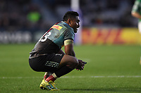 Francis Saili of Harlequins looks on. Premiership Rugby Cup match, between Harlequins and Newcastle Falcons on November 4, 2018 at the Twickenham Stoop in London, England. Photo by: Patrick Khachfe / JMP