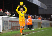 Michael Harriman of Wycombe Wanderers during the Sky Bet League 2 match between Dagenham and Redbridge and Wycombe Wanderers at the London Borough of Barking and Dagenham Stadium, London, England on 9 February 2016. Photo by Andy Rowland.