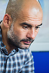 Head coach of Bayern Munich Pep Guardiola look on prior to the Bayern Munich vs Guangzhou Evergrande as part of the Bayern Munich Asian Tour 2015  at the Tianhe Sport Centre on 23 July 2015 in Guangzhou, China. Photo by Aitor Alcalde / Power Sport Images