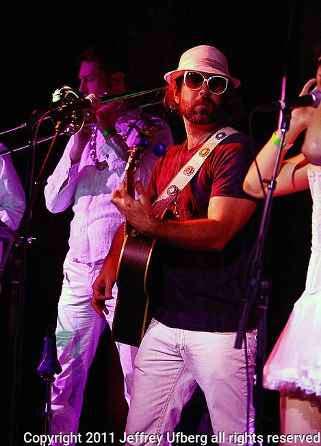 November 3, 2011 New York: Singer / Musician Brother Joscephus of Brother Joscephus and the Love Revival Revolution performs Hiro Ballroom on November 3, 2011 in New York