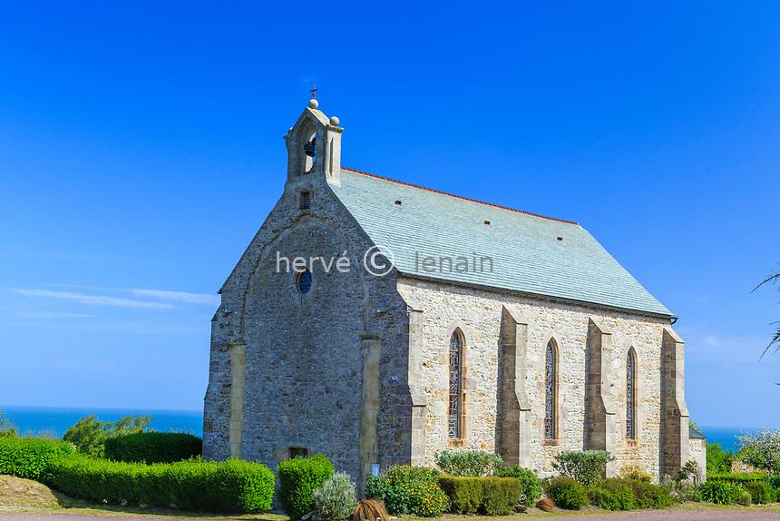 France, Manche (50), Cotentin, Cap de la Hague, Saint-Germain-des-Vaux, chapelle Notre-Dame // France, Manche, Cotentin Peninsula, Cap de la Hague, Saint Germain des Vaux, Notre Dame chapel