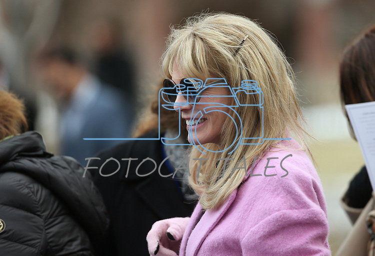 Former Nevada First Lady Dawn Gibbons arrives at Gov. Steve Sisolak's inauguration at the Capitol, in Carson City, Nev., on Monday, Jan. 7, 2019. <br /> Photo by Cathleen Allison/Nevada Momentum