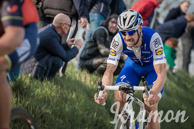 Tom Boonen (BEL/Quick Step Floors) up the Oude Kwaremont<br /> <br /> E3 Harelbeke 2017