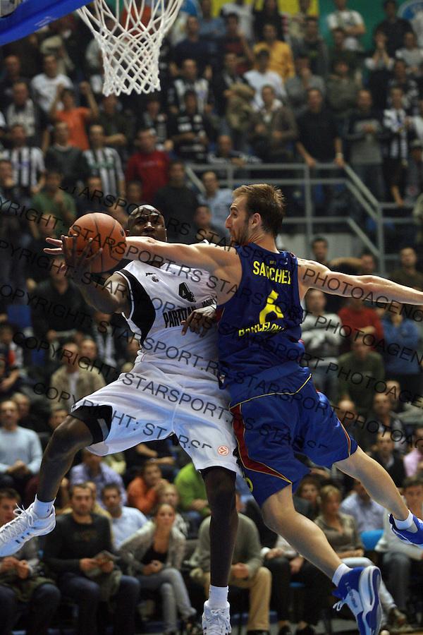 Sport Kosarka Evroliga Euroleague Partizan Barselona Barcelona Basketball Palacio i Sanchez 24.10.2007. photo: Pedja Milosavljevic