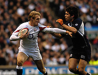 Twickenham, GREAT BRITAIN,  Ollie MORGAN, with the ball, during the  England vs Scotland, Calcutta Cup Rugby match played at the  RFU Twickenham Stadium on Sat 03.02.2007  [Photo, Peter Spurrier/Intersport-images]....