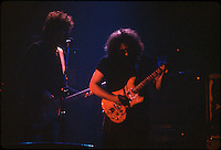 Jerry & John Kahn, The Jerry Garcia Band at the Capitol Theater, Passaic  NJ 11-26-77. From an original Kodak Ektachrome Professional Tungsten Film Slide, EPT160.