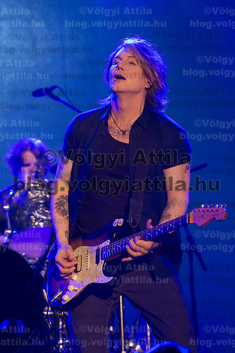 Lead vocalist and guitarist Johnny Rzeznik performs with American rock band Goo Goo Dolls (formerly known as Sex Maggot) at the A38 Stage of Sziget Festival held in Budapest, Hungary on Aug. 13, 2018. ATTILA VOLGYI