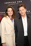 Andrew McCarthy and wife attend the Broadway Opening Night of 'AMERICAN SON' at the Booth Theatre on November 4, 2018 in New York City.