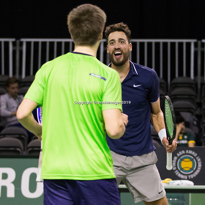 Rotterdam, Netherlands, 9 februari, 2019, Ahoy, Tennis, ABNAMROWTT,  SANDER ARENDS (NED)+DAVID PEL (NED) Photo: Henk Koster/tennisimages.com