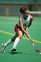 30 August 2005: Caroline Hussey during Stanford's 5-1 loss to Delaware at the Varsity Turf Field in Stanford, CA.