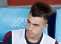 Calcio, Serie A: Napoli vs Roma. Napoli, stadio San Paolo, 15 ottobre. <br /> Roma&rsquo;s Stephan El Shaarawy waits for the start of the Italian Serie A football match between Napoli and Roma at Naples' San Paolo stadium, 15 October 2016. Roma won 3-1.<br /> UPDATE IMAGES PRESS/Isabella Bonotto