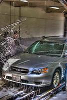 Car Wash, HDR, Suburu, Legacy, Wagon, Unique, Painterly, Grundge Look,