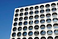 Nederland Amsterdam - 2018.  The Ravel Residence. Ravel Residence is een modern studentencomplex op Zuidas dat bestaat uit 800 zelfstandige studentenwoningen. Het complex is ontworpen door OZ architect.  Foto Berlinda van Dam / Hollandse Hoogte