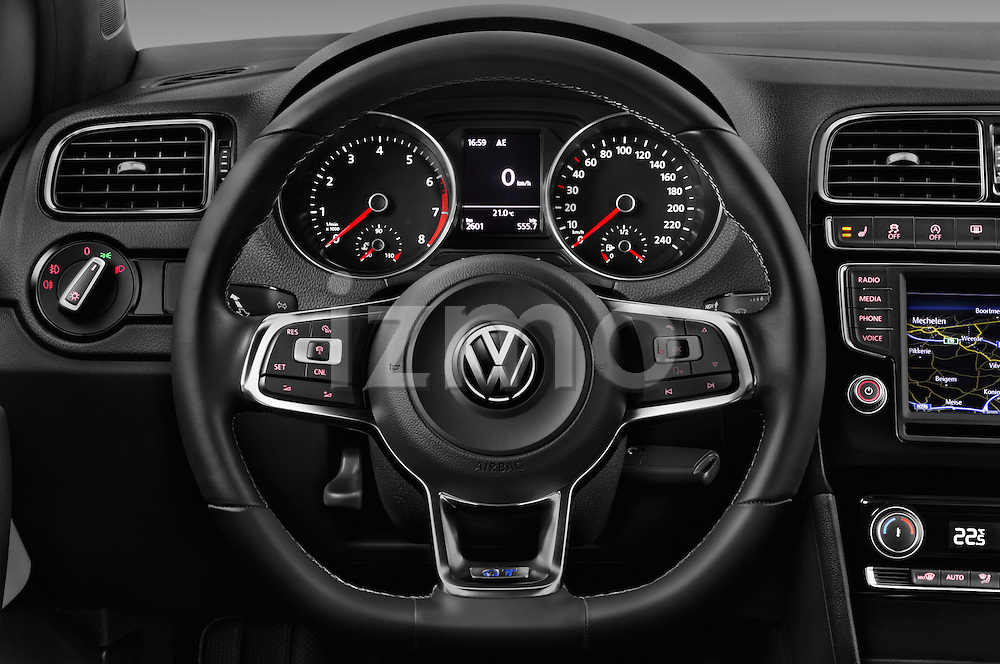 Car pictures of steering wheel view of a 2016 Volkswagen Polo Blue-GT 5 Door Hatchback Steering Wheel