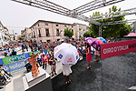 Sign on before the start of Stage 7 of the 100th edition of the Giro d'Italia 2017, running 224km from Castrovillari to Alberobello, Italy. 12th May 2017.<br /> Picture: LaPresse/Gian Mattia D'Alberto | Cyclefile<br /> <br /> <br /> All photos usage must carry mandatory copyright credit (&copy; Cyclefile | LaPresse/Gian Mattia D'Alberto)