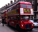 Red Routemaster double decker buses, London, England