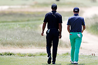 Tiger Woods (USA) and Justin Thomas (USA) walk the 8th hole during the second round of the 118th U.S. Open Championship at Shinnecock Hills Golf Club in Southampton, NY, USA. 15th June 2018.<br /> Picture: Golffile | Brian Spurlock<br /> <br /> <br /> All photo usage must carry mandatory copyright credit (&copy; Golffile | Brian Spurlock)