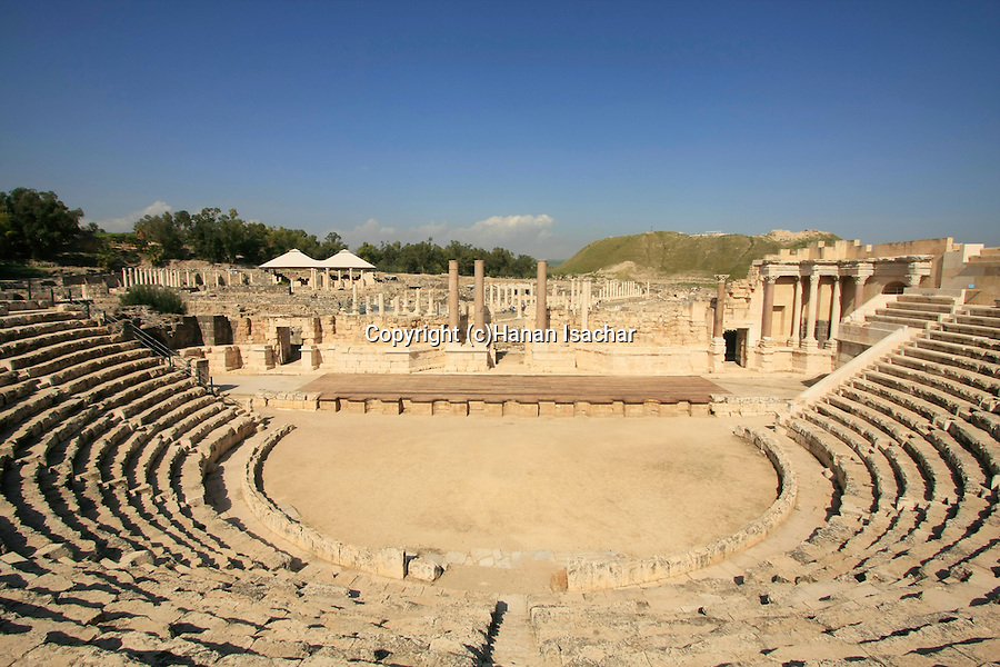 Israel, Beth Shean valley. the Roman theater of Scythopolis