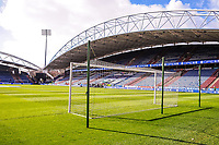 The goal with Huddersfield Town's  Riverside stand behind during the EPL - Premier League match between Huddersfield Town and Crystal Palace at the John Smith's Stadium, Huddersfield, England on 17 March 2018. Photo by Stephen Buckley / PRiME Media Images.