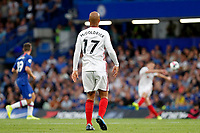 David McGoldrick of Sheffield United seeks a pass during the Premier League match between Chelsea and Sheff United at Stamford Bridge, London, England on 31 August 2019. Photo by Carlton Myrie / PRiME Media Images.