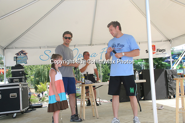 Anna Kaplan sees Daniel and Billy on stage at Joyce Becker's Soap Opera Festivals present Young and Restless' Daniel Goddard and Billy Miller at Six Flags Hurricane Harbor on July 26, 2009 in Jackson, New Jersey. (Photo by Sue Coflin/Max Photos)
