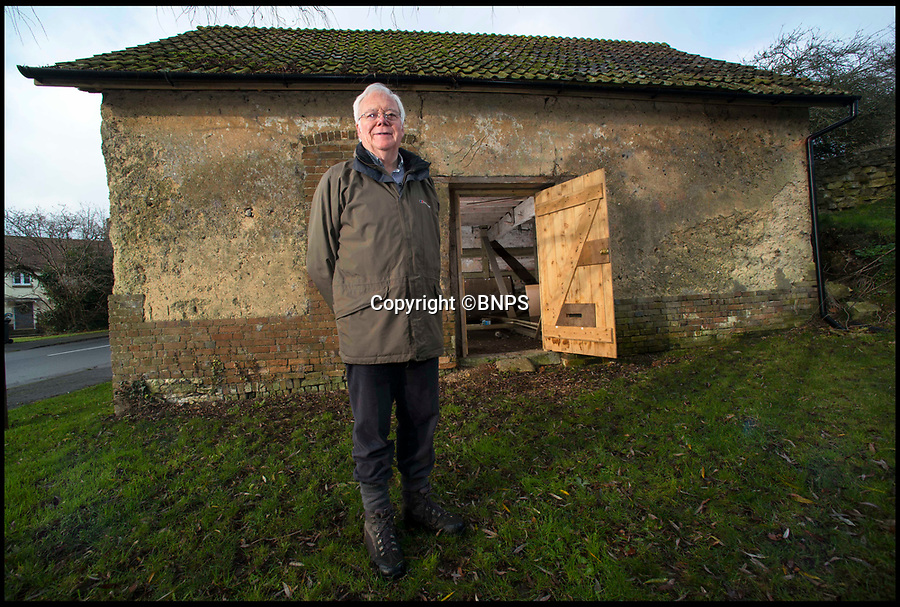BNPS.co.uk (01202 558833)<br /> Pic: TomWren/BNPS<br /> <br /> Chairman for the Tolpuddle Old Chapel Trust Andrew McCarthy outside the Grade II listed Methodist chapel which was built by two of the Tolpuddle Martyrs.<br /> <br /> Campaigners trying to save a little derelict chapel where the Tolpuddle Martyrs met have just three months to raise £226,000 to safeguard its future.