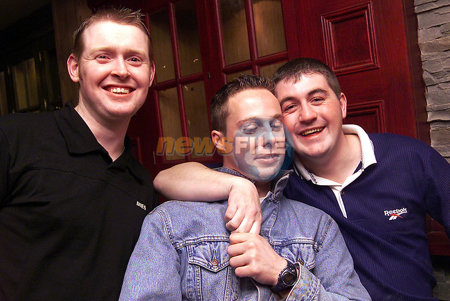 Gary Gaffney, Cathal Grace and John Thomas Carney Dunleer, pictured enjoying a night in the Dunleer Inn..pic: Newsfile