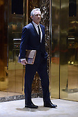 Robert F. Kennedy Jr. is seen waiting for the elevator in the lobby of the Trump Tower in New York, NY, on January 10, 2017. <br /> Credit: Anthony Behar / Pool via CNP