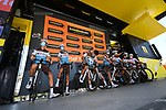 AG2R La Mondial at sign on before the start of Stage 8 of Tour de France 2020, running 141km from Cazeres-sur-Garonne to Loudenvielle, France. 5th September 2020.<br /> Picture: ASO/Pauline Ballet | Cyclefile<br /> All photos usage must carry mandatory copyright credit (© Cyclefile | ASO/Pauline Ballet)