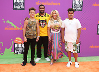 LOS ANGELES, CA July 13- Chanel Fielder, Jadyn Fielder, Prince Fielder, Haven Fielder, At Nickelodeon Kids' Choice Sports Awards 2017 at The Pauley Pavilion, California on July 13, 2017. Credit: Faye Sadou/MediaPunch
