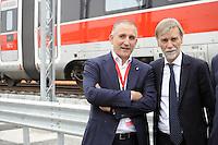 - Treviglio (Brescia), viaggio di prova sulla nuova linea Alta Velocit&agrave;/Alta Capacit&agrave; Treviglio-Brescia, parte integrante del Corridoio Europeo TENT-T; Renato Mazzoncini, Amministratore Delegato del gruppo FS Italiane e Graziano Delrio, Ministro delle Infrastrutture e dei Trasporti<br /> <br /> - Treviglio (Brescia), test ride on the new line High Speed / High Capacity Treviglio-Brescia, an integral part of the European Corridor TENT-T; Renato Mazzoncini, CEO of the Italian FS Group and Graziano Delrio, Minister of Infrastructure and Transport
