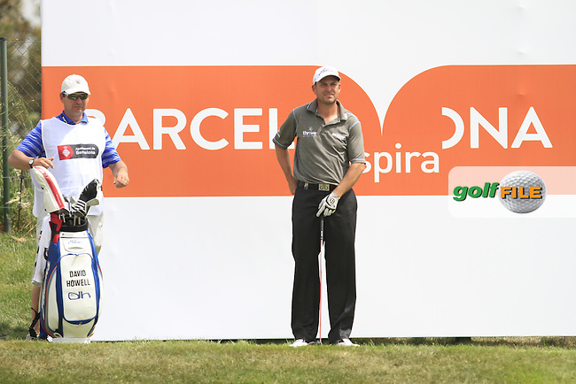 David Howell (ENG) on the 9th tee during Round 1 of the Open de Espana  in Club de Golf el Prat, Barcelona on Thursday 14th May 2015.<br /> Picture:  Thos Caffrey / www.golffile.ie