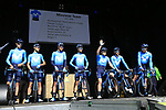 Movistar Team at sign on before the 2019 E3 Harelbeke Binck Bank Classic 2019 running 203.9km from Harelbeke to Harelbeke, Belgium. 29th March 2019.<br /> Picture: Eoin Clarke | Cyclefile<br /> <br /> All photos usage must carry mandatory copyright credit (© Cyclefile | Eoin Clarke)