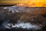 USA, Hawaii, Big Island , Hawaii Volcanoes National Park, steaming caldera