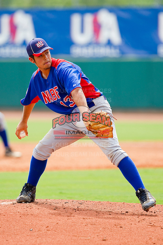 Ralph Garza #13 of NABF in action against the STARS at the 2011 Tournament of Stars at the USA Baseball National Training Center on June 25, 2011 in Cary, North Carolina.  The Stars defeated NABF 7-1.  (Brian Westerholt/Four Seam Images)