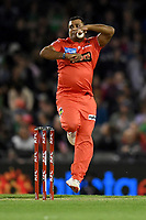 10th January 2020; Marvel Stadium, Melbourne, Victoria, Australia; Big Bash League Cricket, Melbourne Renegades versus Melbourne Stars; Samit Patel of the Renegades bowls the ball - Editorial Use
