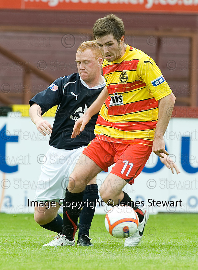 14/08/2010   Copyright  Pic : James Stewart.sct_jsp005_partick_th_v_dundee  .::  IAN FLANNIGAN GETS AWAY FROM GRANT CHARLIE ::.James Stewart Photography 19 Carronlea Drive, Falkirk. FK2 8DN      Vat Reg No. 607 6932 25.Telephone      : +44 (0)1324 570291 .Mobile              : +44 (0)7721 416997.E-mail  :  jim@jspa.co.uk.If you require further information then contact Jim Stewart on any of the numbers above.........