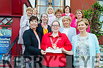Tralee Soroptimists donated money from their fundraisers to ADAPT Kerry Women's Refuge and The Rosemary Centre Tralee on Wednesday (yesterday). Pictured were: Fiona Griffin (ADAPT), Karen Ivers (President of Soroptimists) and Kay McNamara (The Rosemary Centre). Middle row l-r were: Eileen Kelliher (Adapt) and Margaret O'Mahony (The Rosemary Centre). Back l-r were: Mary O'Neill, Mary O'Sullivan, Anglea Deenihan, Margaret Gleasure, Mena Nolan and Joans Ivers all from Tralee Soroptimists.