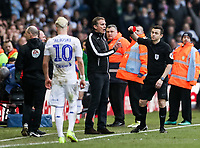 Bolton Wanderers' manager Phil Parkinson receives a red card from referee Tony Harrington  <br /> <br /> Photographer Andrew Kearns/CameraSport<br /> <br /> The EFL Sky Bet Championship - Leeds United v Bolton Wanderers - Saturday 23rd February 2019 - Elland Road - Leeds<br /> <br /> World Copyright © 2019 CameraSport. All rights reserved. 43 Linden Ave. Countesthorpe. Leicester. England. LE8 5PG - Tel: +44 (0) 116 277 4147 - admin@camerasport.com - www.camerasport.com