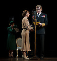 "London, UK. 26/03/2012. ""The King's Speech"" opens at the Wyndhams Theatre, London. Picture shows:  Charlotte Randle (as Myrtle Logue), Emma Fielding (as Queen Elizabeth), Charles Edwards (as King George VI).  Photo credit: Jane Hobson"