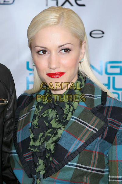 GWEN STEFANI.Movieline's Hollywood Life Magazine's 7th Annual Young Hollywood Awards at The Music Box at The Fonda, Hollywood, California, May 1st 2005..portrait headshot tartan blue green Vivienne Westwood style jacket red lipstick scarf .Ref: ADM.www.capitalpictures.com.sales@capitalpictures.com.©Jacqui Wong/AdMedia/Capital Pictures.