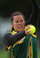 Hutt Valley's Alisha Manley. Hutt Valley v Auckland Angels - National League Softball Championship finals at Fraser Park, Wellington, New Zealand on Sunday 2 February 2009. Photo: Dave Lintott / lintottphoto.co.nz