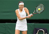 Ana Ivanovic<br /> <br /> Tennis - The Championships Wimbledon  - Grand Slam -  All England Lawn Tennis Club  2013 -  Wimbledon - London - United Kingdom - Wednesday 26th June  2013. <br /> &copy; AMN Images, 8 Cedar Court, Somerset Road, London, SW19 5HU<br /> Tel - +44 7843383012<br /> mfrey@advantagemedianet.com<br /> www.amnimages.photoshelter.com<br /> www.advantagemedianet.com<br /> www.tennishead.net