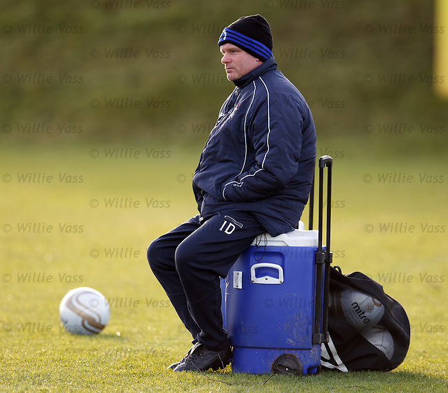 Ian Durrant watching training
