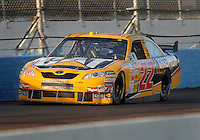Apr 19, 2007; Avondale, AZ, USA; Nascar Nextel Cup Series driver Dave Blaney (22) during qualifying for the Subway Fresh Fit 500 at Phoenix International Raceway. Mandatory Credit: Mark J. Rebilas