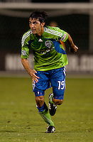 Leonardo Gonzalez. The Seattle Sounders defeated DC United, 2-1, to win the 2009 Lamr Hunt U.S. Open Cup at RFK Stadium in Washington, DC.