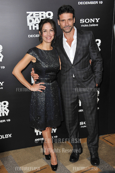 "Frank Grillo & wife Wendy Moniz at the premiere of his movie ""Zero Dark Thirty"" at the Dolby Theatre, Hollywood..December 10, 2012  Los Angeles, CA.Picture: Paul Smith / Featureflash"